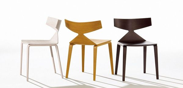 Saya wooden chair Arper